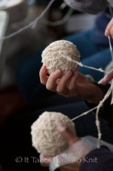 With some balls of yarn ...