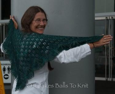 With wonderful shawls,