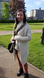Thank you Blahine, for letting me take a picture of you wearing your amazing sweater coat!