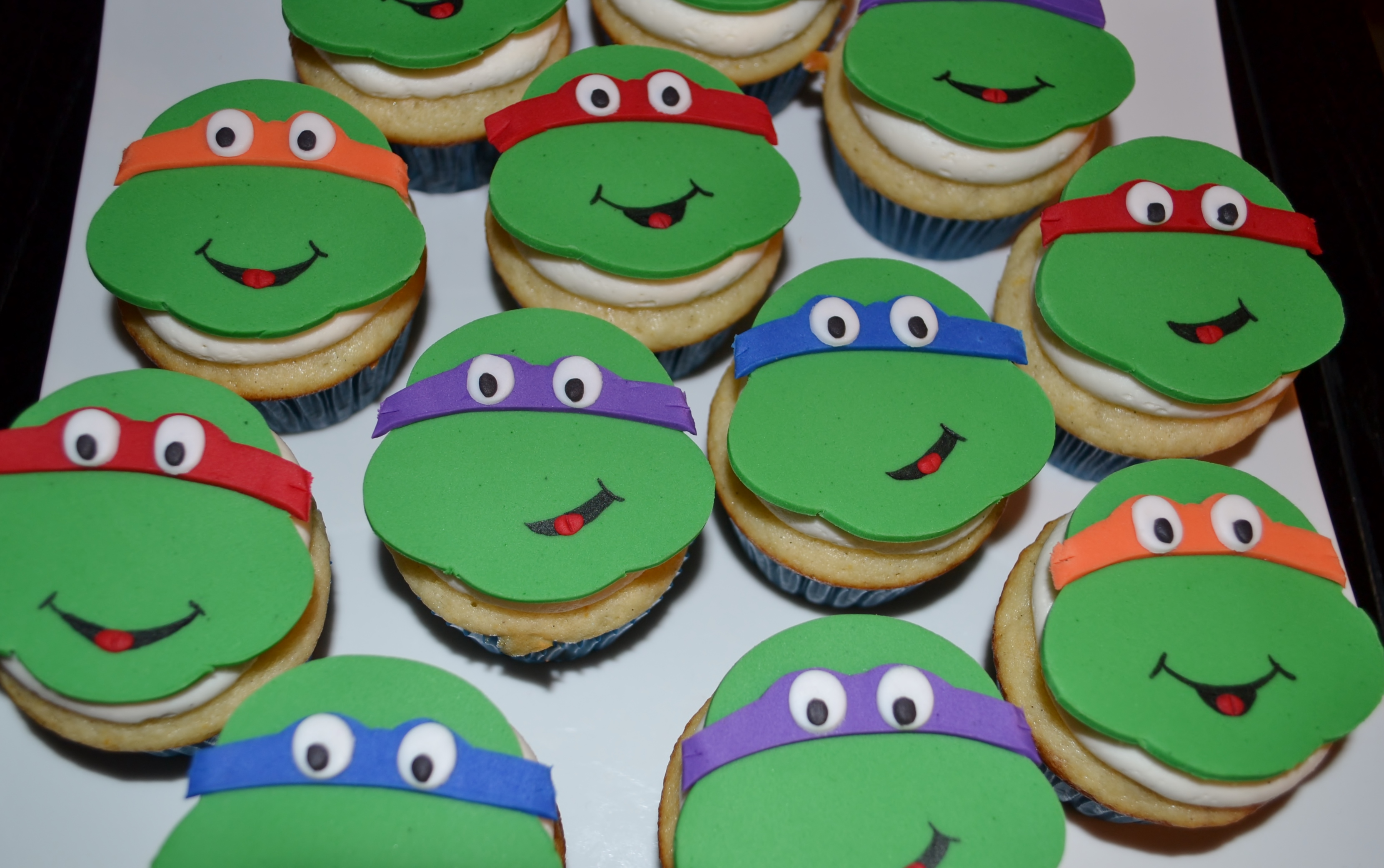 Ninja Turtle Cupcake Cake