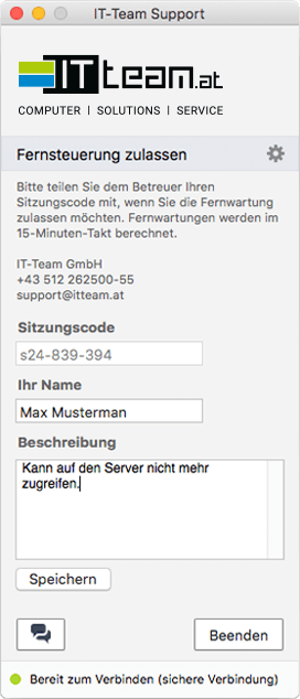 Fernwartungs Service in Tirol Innsbruck IT Team