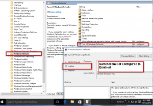 Turnoff windows-Defender- windows10