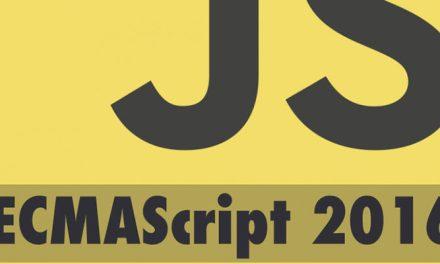 Une nouvelle référence ECMAScript 2016 très mineure