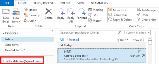 left-side-of-the-Outlook-interface