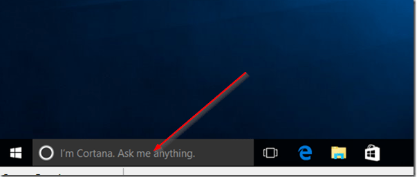 cortana search