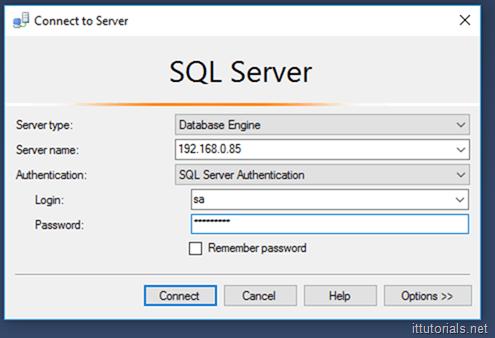 SQL Server console
