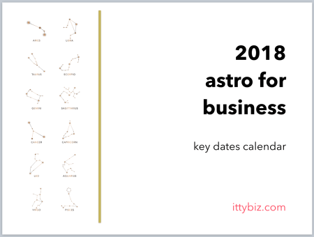 Your 2018 Key Dates Calendar