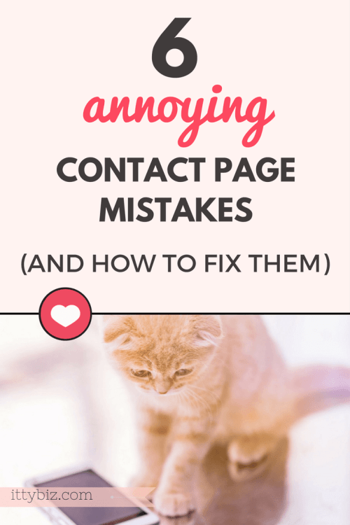 Contact page mistakes