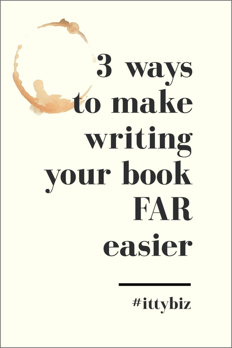 3 Ways to Make Writing Your Book FAR Easier