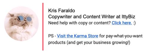 Kris email signature