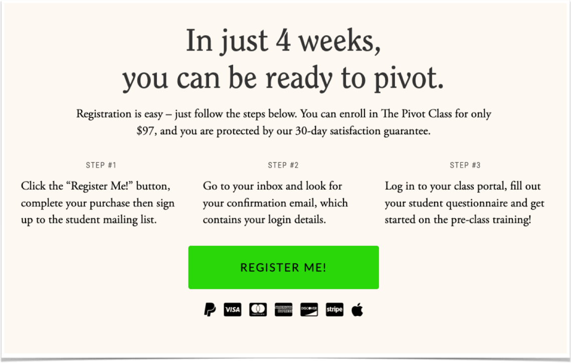 Pivot Class - Buy Button