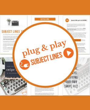 Plug & Play Subject Lines
