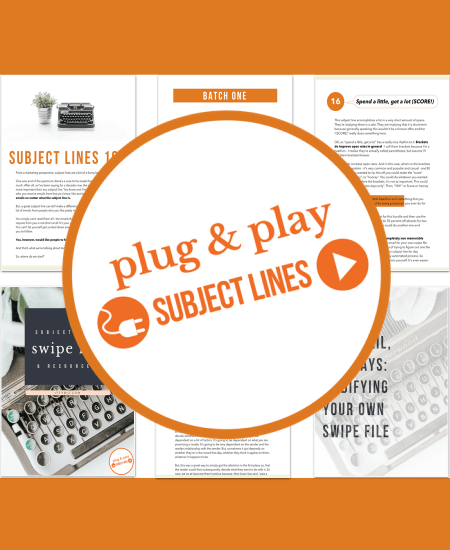 Plug & Play Subject Lines