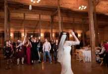 bride throws cat toy instead of flowers