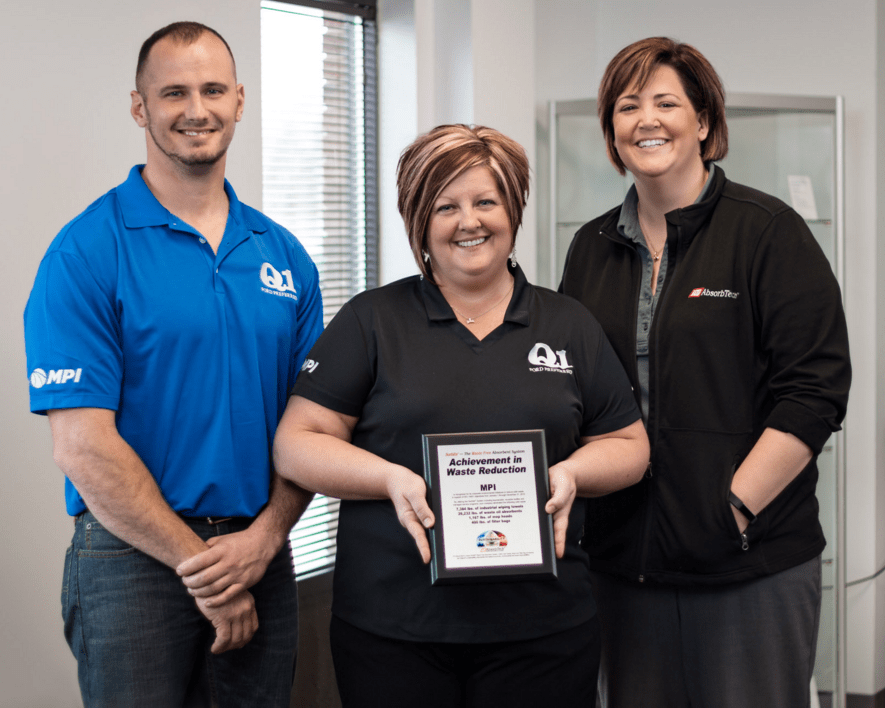 MPI receive waste reduction plaque