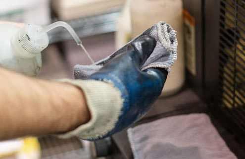 solvent contaminated wipes