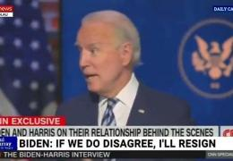 Joe Biden spoke of Kamala Harris as though 'she was president'