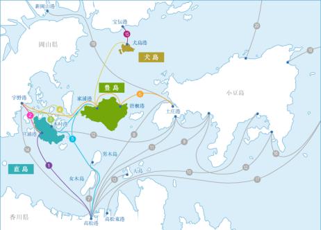 島と周囲の地図