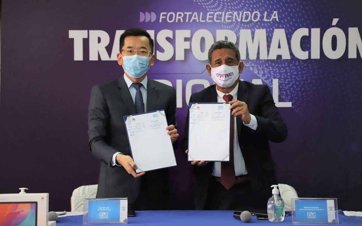 gobierno-regional-de-cajamarca-y-huawei-firman-acuerdo