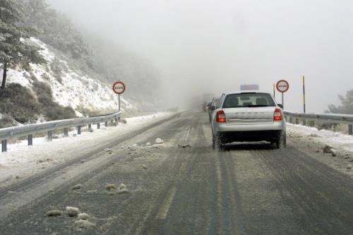 coche nevado