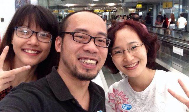 Anh Khánh cùng 2 đồng nghiệp ở Remove The Background