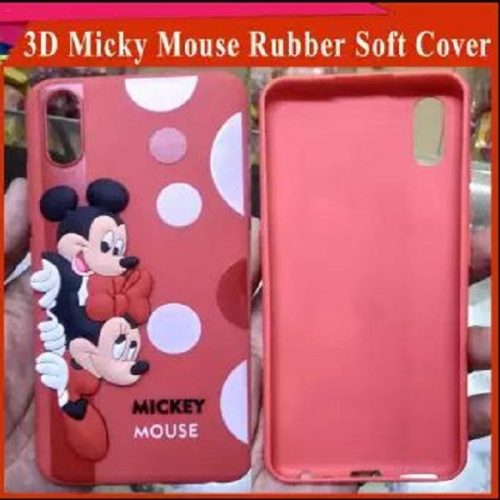 Huawei Y9 2019 Mobile Cover For Girls - 3D Rubber Micky Mouse Soft phone cases