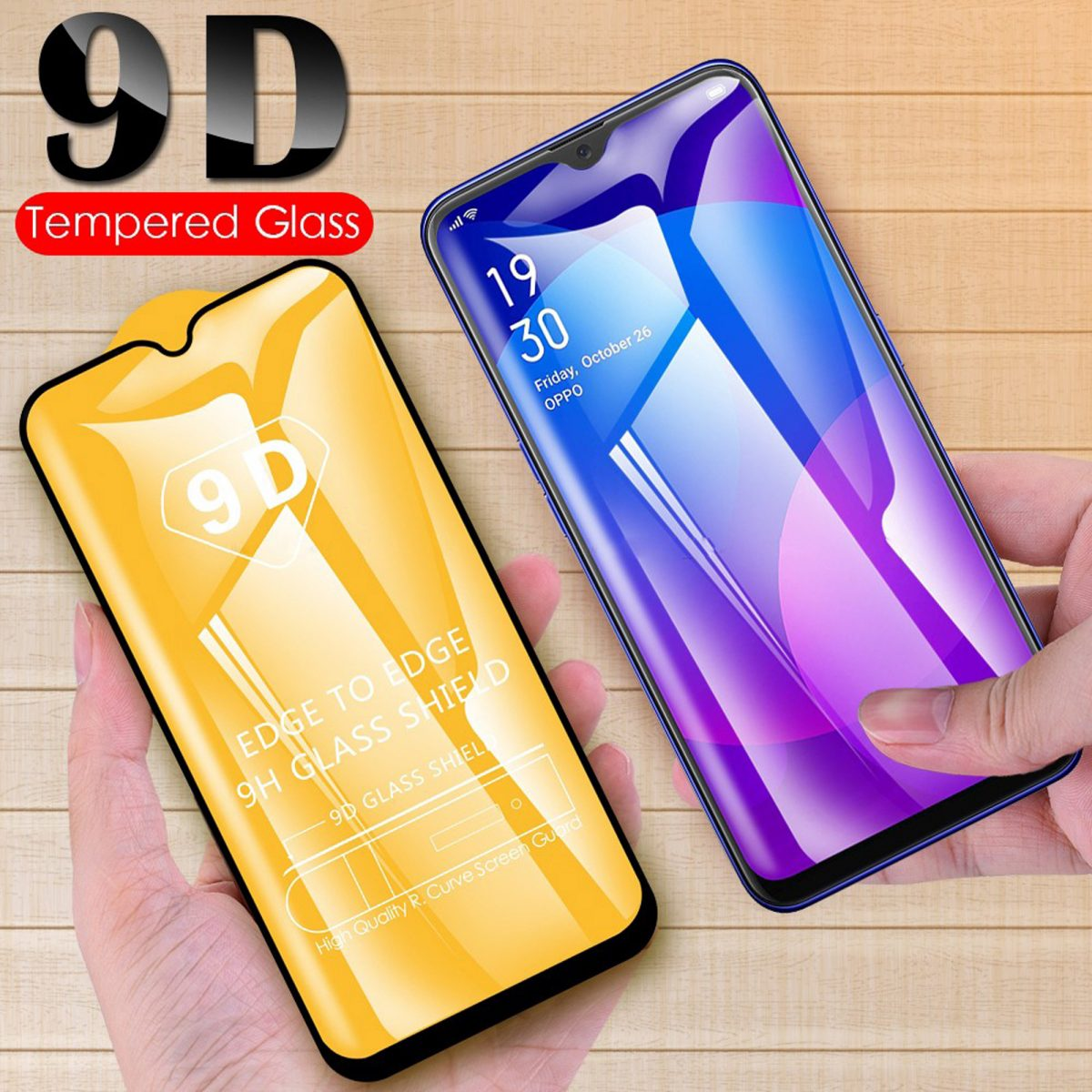 Oppo A5 2020 9D Full Cover Tempered Glass Screen Protector