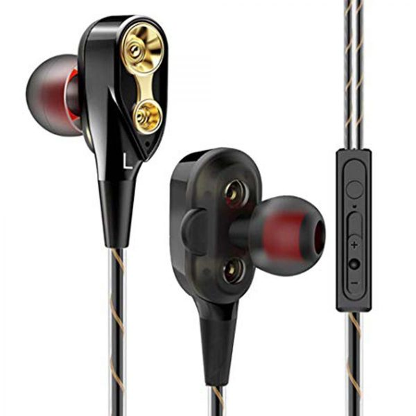 Audionic Black Universal Earphone With Extra Bass - D-50