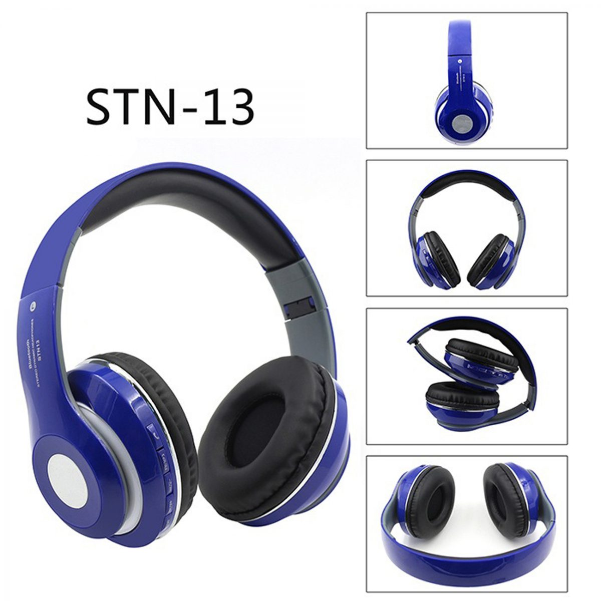 Blue Shinning Stereo Wireless Headphone - STN-13