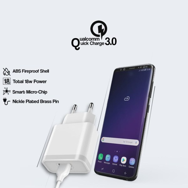 Orignal Ronin 3.0A Qualcomm Quick Charger With Data Cable R930-4L95B