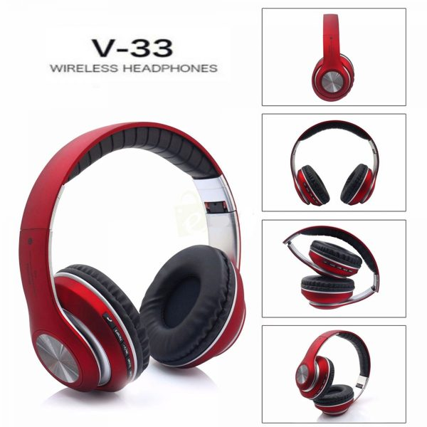 JBL Red Wireless Stereo Headphone - V-33