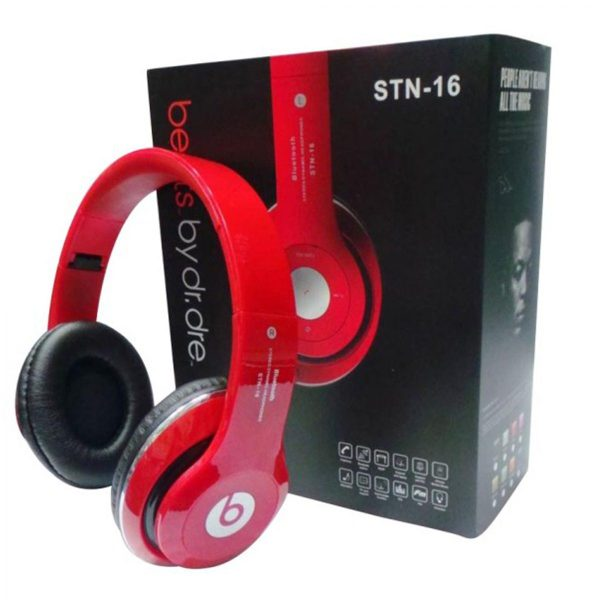 Beats Red Bluetooth Stereo Dynamic Headphones - STN-16