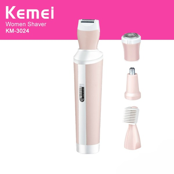 Kemei 4 in 1 Rechargeable Shaver Suit KM-3024 - 8L00P