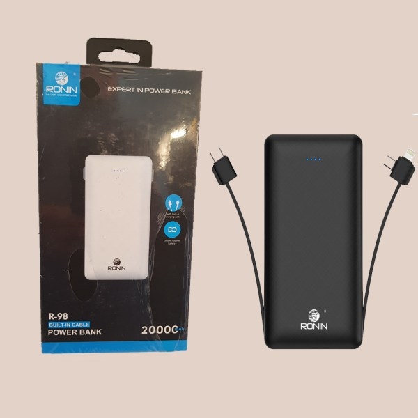 Ronin Built in Cable Power Bank 20000mAh R-98 - 2H245L
