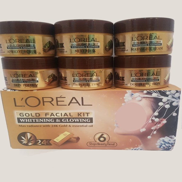 L'Oreal Whitening & Glowing Gold Facial 6 Step Kit - 3F30R
