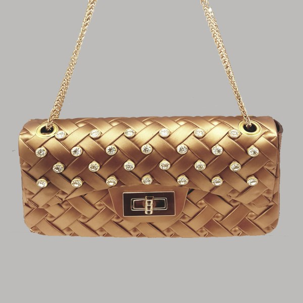 Golden Hand Clutch Shoulder Bag With Chain BC50 - 5T0O0