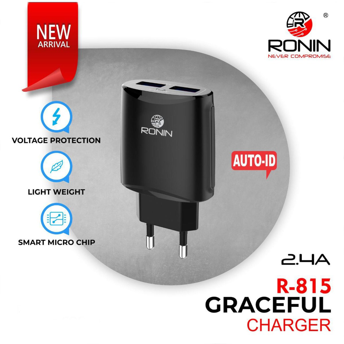 Original 2.4A Ronin Graceful Charger R-815-X3E35