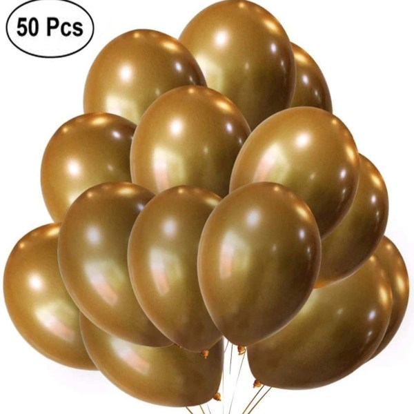 Party Decoration Brown Latex Balloons 50pcs '05CI1