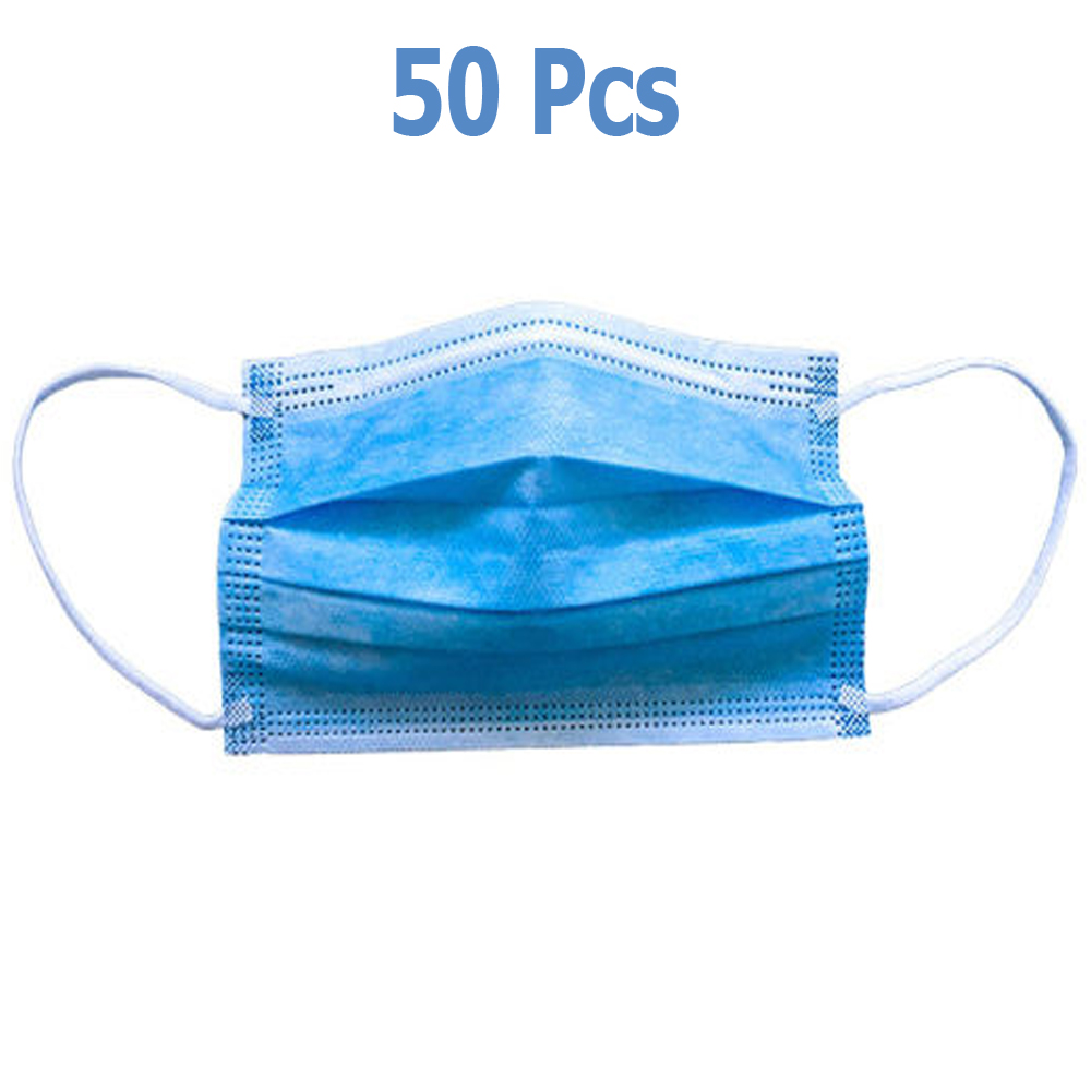 50pcs High Quality Disposable Non-Woven Face Mask 3ply with Ear Loop '0B8E3