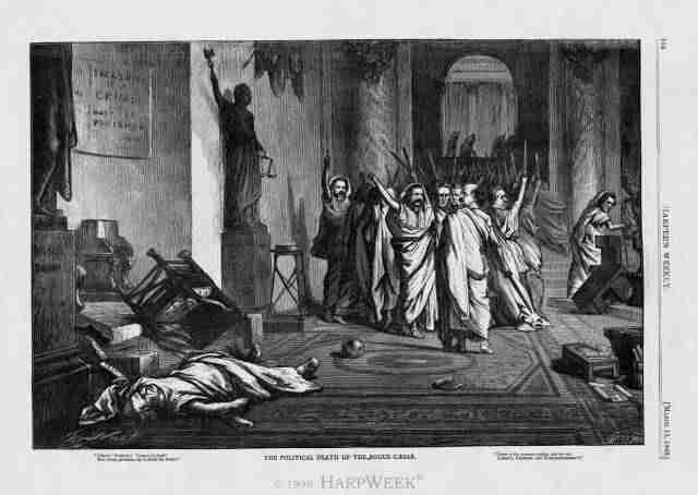 Julius Caesar as a symbol of political death