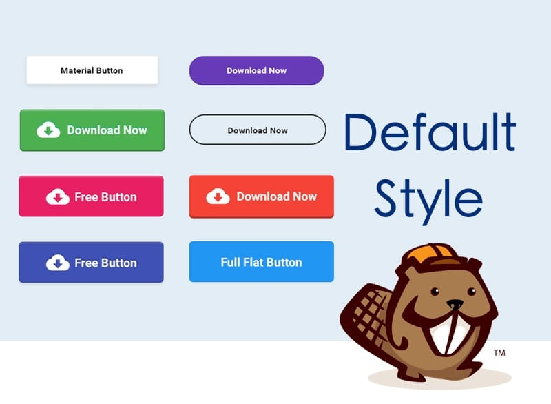 Screenshot of different button styles
