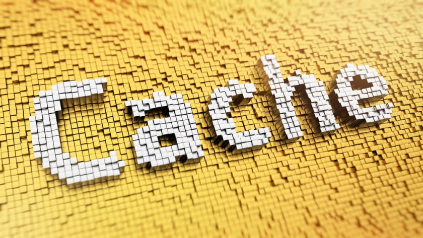 Stock photo of the word cache.