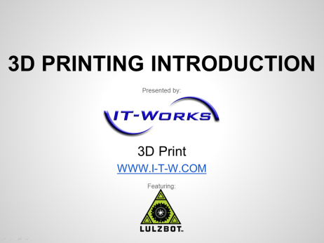 3d printing introduction presentation