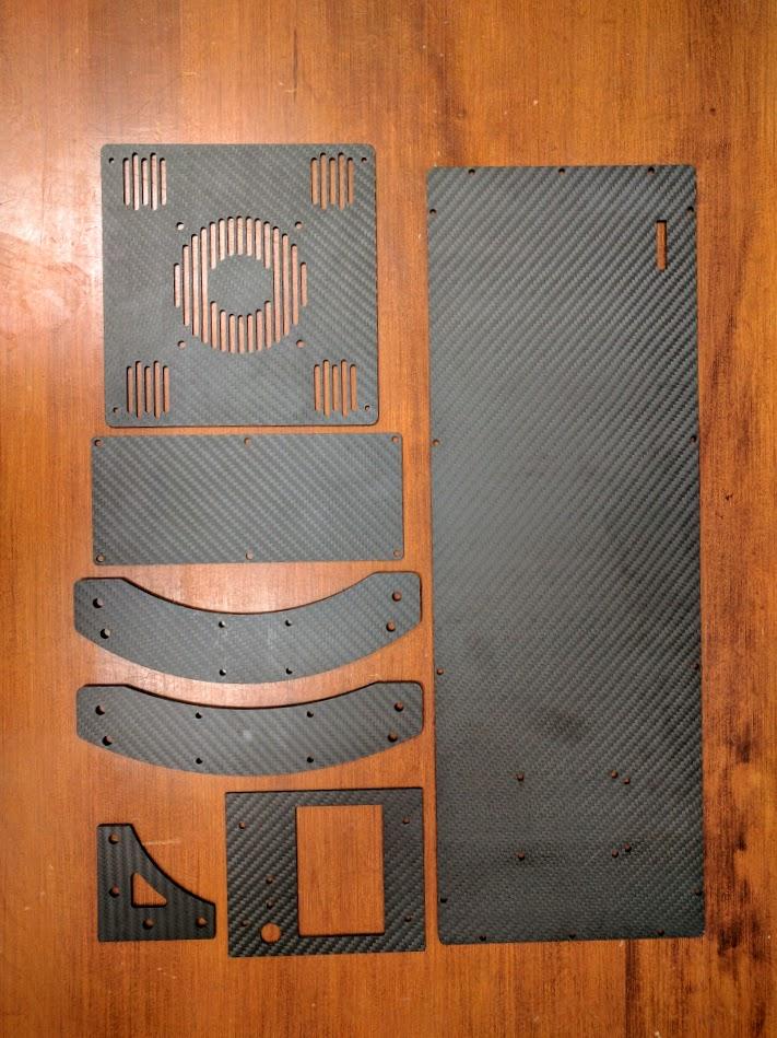 Carbon Fiber Parts for LulzBot Taz!