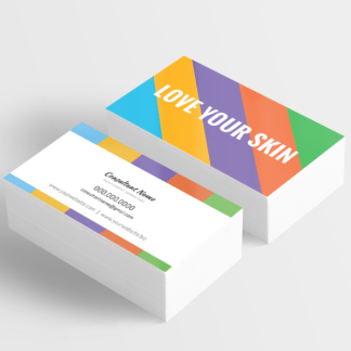 give it a glow, business card design template