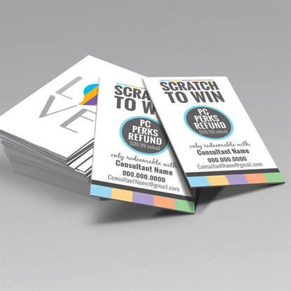 scratch to win card, event scratchers, bbl event launch