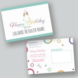 lularoe happy birthday card with coupon
