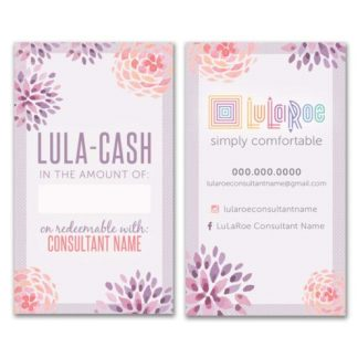lularoe Lula cash business card prints