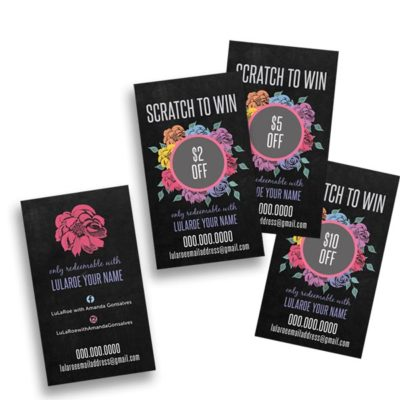 lularoe business card scratch cards