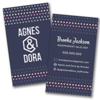 agnes and dora business card